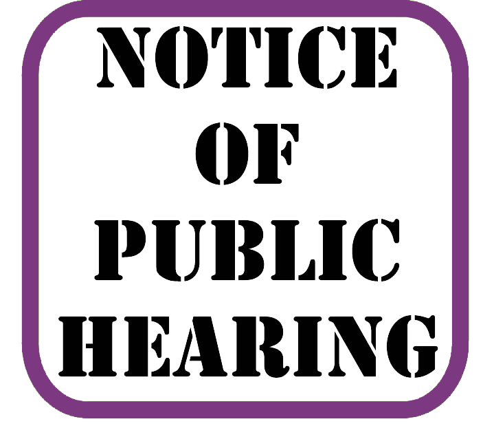Notice of Public Hearing - Calling an Election for Parcel Tax